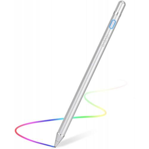Dasaja Actieve Stylus Pen Zilver geschikt voor Android / iOS / Windows Tablets & Telefoons