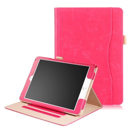iPad 10.2 (2019) / iPad Air 3 10.5 (2019) / iPad Pro 10.5 (2017) leren case / hoes roze incl. standaard met 3 standen