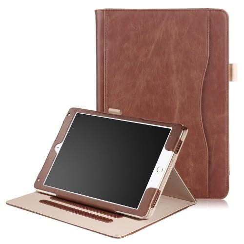 iPad Air 3 10.5 (2019) / iPad Pro 10.5 (2017) leren case / hoes bruin incl. standaard met 3 standen
