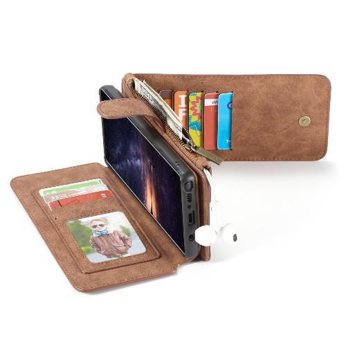 Samsung Galaxy Note 9 Leren portemonnee hoesje met uitneembare telefoon case