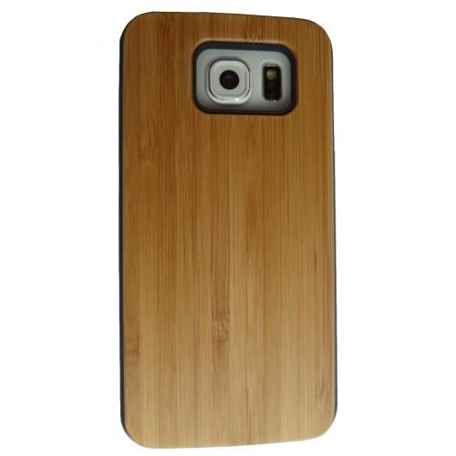 Samsung Galaxy S6 hoesje met bamboe houten achterkant