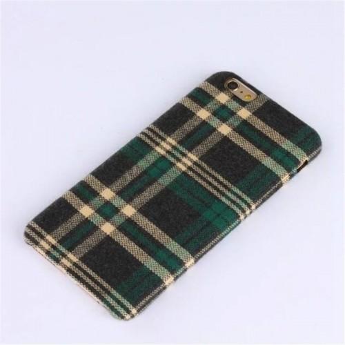 Retro ruiten hoesje groen/zwart iPhone 6 Plus en iPhone 6S Plus