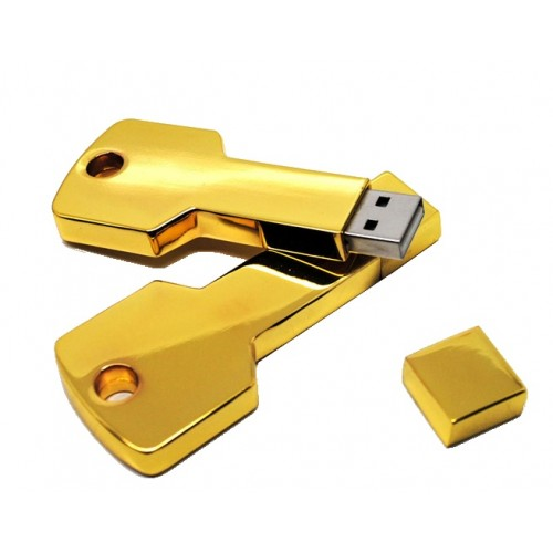 USB-stick Sleutel goud metaal 8GB