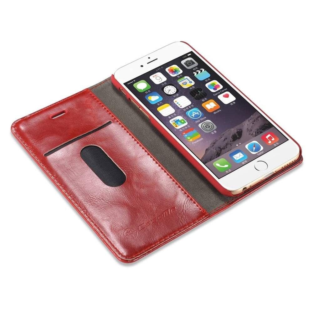 iphone 8 plus 7 plus rustiek leren boekhoesje rood. Black Bedroom Furniture Sets. Home Design Ideas