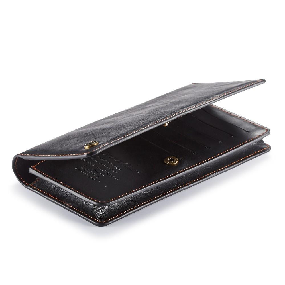 5e7922ebb7f Universele telefoonhoes portemonnee met 11 kaarthouders zwart