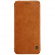 Nillkin Qin iPhone 8 Plus / 7 Plus leren boekhoesje bruin
