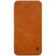 Nillkin Qin iPhone X / XS leren boekhoesje bruin