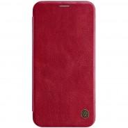 Nillkin Qin iPhone XS Max leren boekhoesje rood