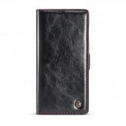 Samsung Galaxy Note 9 rustiek leren boekhoesje zwart