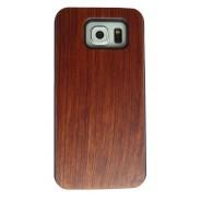 Samsung Galaxy S6 Edge hoesje met rozenhout achterkant