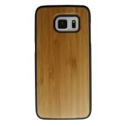 Samsung Galaxy S7 Edge hoesje met bamboe houten achterkant