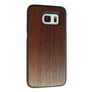 Samsung Galaxy S7 Edge hoesje met walnoot hout achterkant