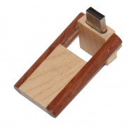 2 kleuren hout USB stick schuif-draaimodel 8GB