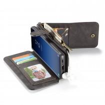 Samsung Galaxy S9 Leren portemonnee hoesje met uitneembare telefoon case zwart