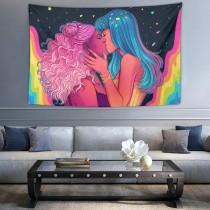 Ulticool - Vrouwen Liefde Regenboog - Wandkleed - 200x150 cm - Groot wandtapijt - Poster
