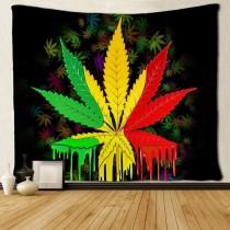 Ulticool - Wiet Weed Reggae Rasta Cannabis Natuur - Wandkleed - 200x150 cm - Groot wandtapijt - Poster