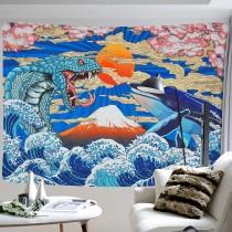 Ulticool - Slang Walvis Art Kunst Japan - Wandkleed - 200x150 cm - Groot wandtapijt - Poster