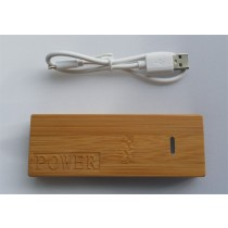 Bamboe houten Power Bank 6000 mAh