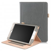 iPad 10.2 (2019) / iPad Air 3 10.5 (2019) / iPad Pro 10.5 (2017) leren case / hoes grijs incl. standaard met 3 standen