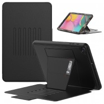 Dasaja – Samsung Galaxy Tab A 10.1 (2019) Hoes - Magnetische 6 standen case - met kaarthouder - 3 lagen bescherming - Zwart