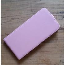 Echt leren iPhone 6 Plus / 6S Plus flipcase hoesje licht roze