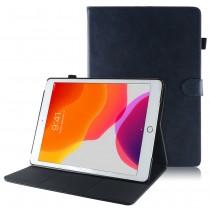 iPad 10.2 (2019 / 2020) leren hoes / case donker blauw