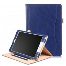 iPad 10.2 (2019) / Air 3 10.5 (2019) / Pro 10.5 (2017) leren case / hoes blauw incl. standaard met 3 standen