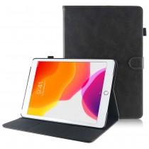 iPad 9.7 (2017) / (2018) leren hoes / case grijs