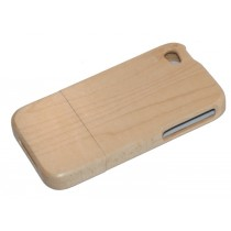 Esdoorn houten hoesje iPhone 4 of 4S