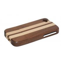 Gemengd houten hoesje iPhone 4 of 4S