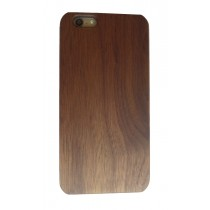 iPhone 6 Plus en iPhone 6S Plus hoesje met walnoot hout achterkant
