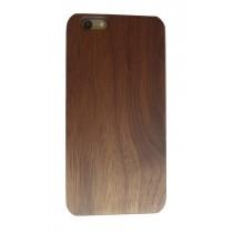 iPhone 6 Plus en iPhone 6S Plus hoesje met walnoot hout achterkant