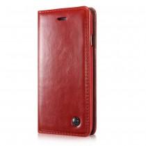 iPhone 5 / 5S / SE rustiek leren boekhoesje rood