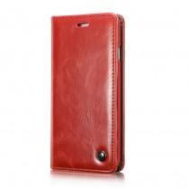 iPhone 8 / 7 rustiek leren boekhoesje rood