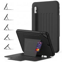 Dasaja – iPad mini 4 / 5 Hoes -  Magnetische 5 standen Case - met kaarthouder –  3 lagen iPad bescherming - Zwart