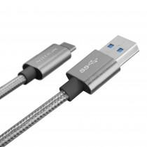 Nillkin Elite oplaadkabel USB-C naar USB 3.0 grijs