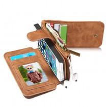 iPhone 5 / 5S / SE Leren portemonnee hoesje met uitneembare telefoon case