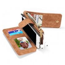iPhone 7 / 8 Leren portemonnee hoesje met uitneembare telefoon case