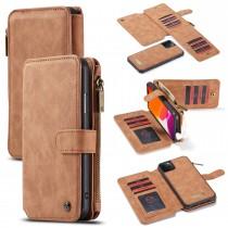 iPhone 11 Pro Max Leren portemonnee hoesje met uitneembare telefoon case