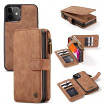 iPhone 12 mini (5.4 inch) Leren portemonnee hoesje met uitneembare telefoon case