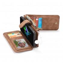 iPhone XS Max Leren portemonnee hoesje met uitneembare telefoon case