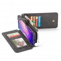 Samsung Galaxy S10 Leren portemonnee hoesje met uitneembare telefoon case zwart