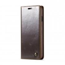 Samsung Galaxy S10 rustiek leren boekhoesje bruin