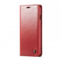 Samsung Galaxy S10 rustiek leren boekhoesje rood