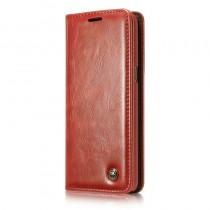 Samsung Galaxy S8 rustiek leren boekhoesje rood