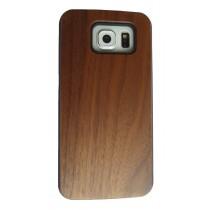 Samsung Galaxy S6 hoesje met walnoot hout achterkant
