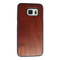 Samsung Galaxy S7 Edge hoesje met rozenhout achterkant