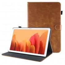 Dasaja Samsung Galaxy Tab A7 10.4 (2020) leren hoes / case bruin