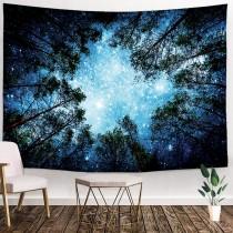Ulticool - Sterren Heelal Planeten Natuur Bomen Bos - Wandkleed - 200x150 cm - Groot wandtapijt - Poster