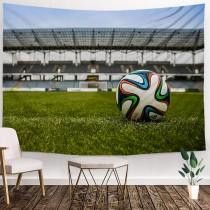Ulticool - Voetbal Bal Voetbaldoel Stadion - Wandkleed - 200x150 cm - Kinderkamer - Groot wandtapijt - Poster